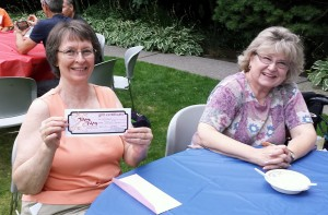 Donna Larsen won the $50 Lovely's Fifty-Fifty gift certificate door prize.